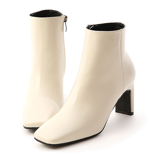 D+AF 美腿指標.復古方頭美型高跟短靴