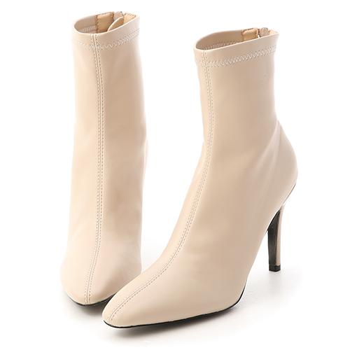 時尚尖端.素面顯瘦感高跟襪靴