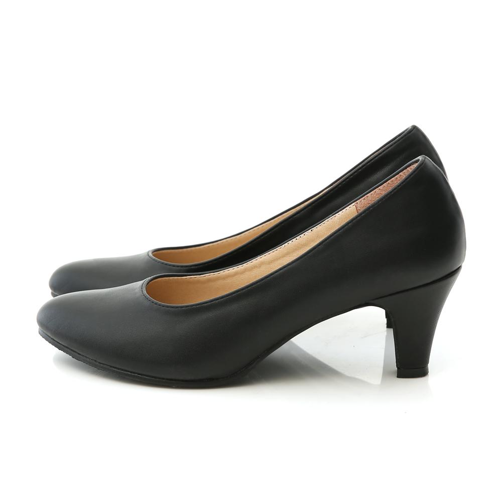知性品味.MIT素面微尖頭6cm中跟鞋 時尚黑