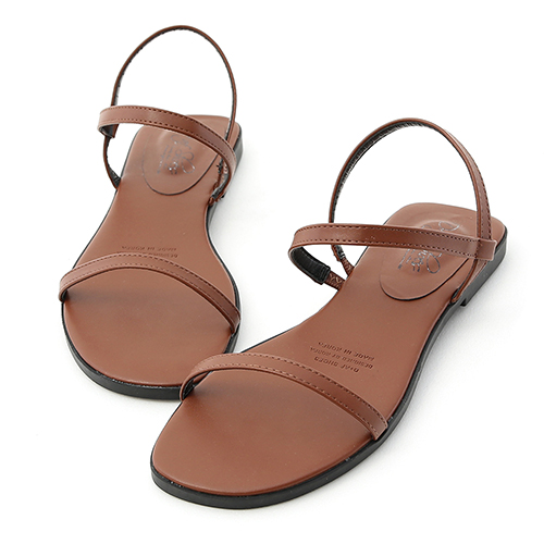 D+AF 個性獨創.一字細帶繞踝平底涼鞋