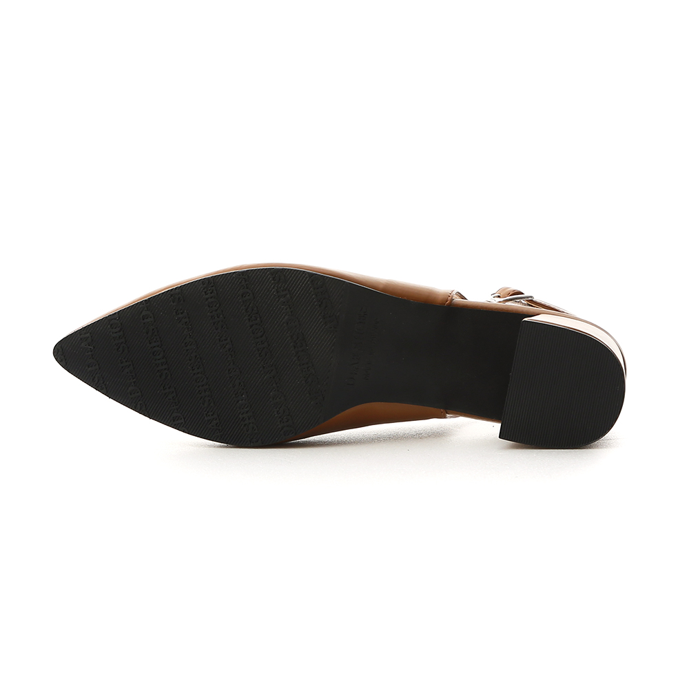 Pointed Toe Slingback Pumps Brown