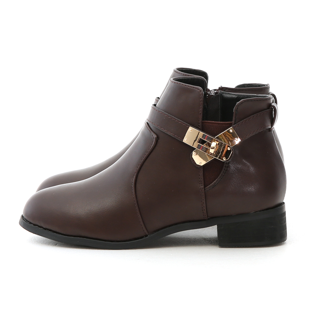 Shark Lock Ankle Boots Brown