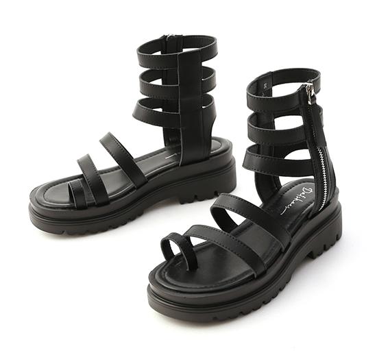 Strappy Bohemian Sandals Black
