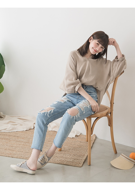 Square Toe Lace-up Canvas Mules Grey